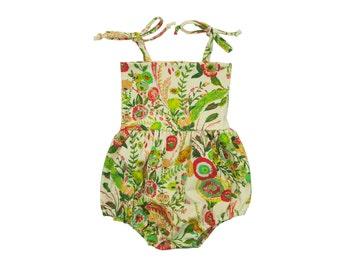Bubble Romper, Sunsuit, Baby Bubble Romper, Toddler Bubble Romper, Baby Sunsuit, Toddler Sunsuit, Girls Romper in Secret Garden Floral