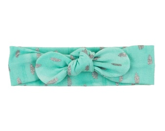 Baby Headband, Toddler Headband, Adult Headband, Baby Girl Headband, Top Knot Headband, Bow Headband, Polka Dot Headbands, Tropics Headband