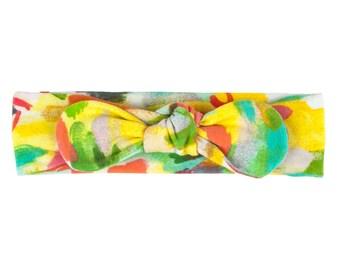 Baby Headband, Toddler Headband, Adult Headband, Baby Girl Headband, Top Knot Headband, Bow Headband, Abstract Headband, Summer Watercolor