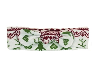 Fair Isle Reindeer Christmas Headband