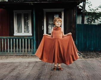 Elona Cowl Maxi Dress - Cinnamon or Heather Avocado