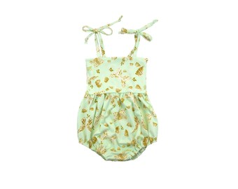 ORGANIC Bubble Romper, Sunsuit, Baby Bubble Romper, Toddler Bubble Romper, Baby Sunsuit, Toddler Sunsuit, Girls Romper, Butterfly, Flutterby