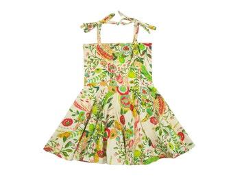Circle Skirt Dress, Girls Dress, Baby Dress, Toddler Dress, Beach Dress, Summer Dress, Skater Dress, Twirling Dress, Secret Garden Dress