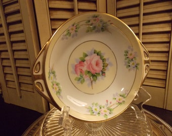Vintage BOWL, HAND PAINTED Floral Decorative Nippon China Bowl