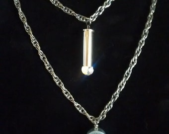 Double Tier Necklace with .357 & 20 Gauge Shells