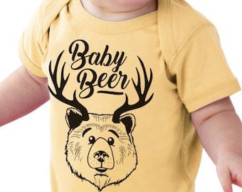 "Craft Beer Baby Bodysuit- ""Baby Beer""- Premium Screen Printed"