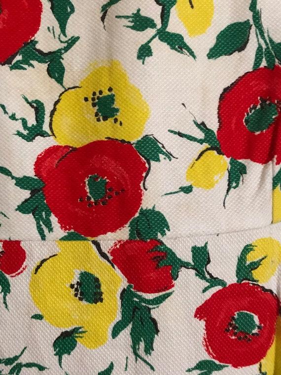 Vintage 1950s floral print dress - image 5