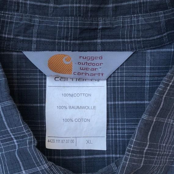 CARHARTT!!! Mens 'Carhartt' checked grey shirt - image 7