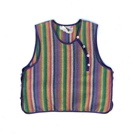 KENZO!!! Vintage 1970s 'Kenzo - Jap' striped top w