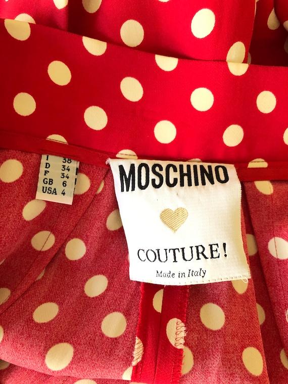 MOSCHINO!!! Vintage 1990s 'Moschino Couture' polk… - image 7