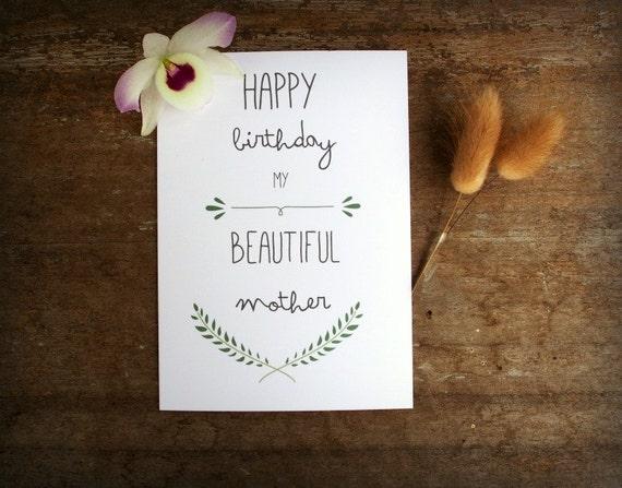 Printable Mother Birthday Card Mum Mom