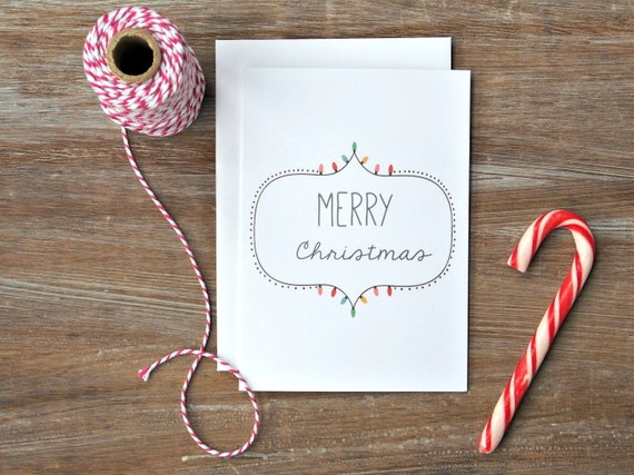 Cool christmas card modern xmas card holiday card simple etsy image 0 m4hsunfo