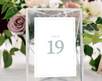 Table Number Frames Etsy