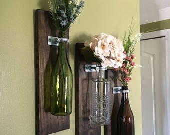 Wine Bottle Vase Etsy
