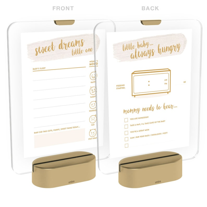 reuseable write-on and wipe-off with dry erase marker Nightlight Frame with Baby Feeding /& Sleep Schedule Log  Tracker