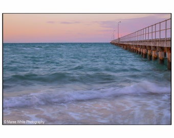 Blue waters, Landscape photography, Home decor, Fine Art print, Ready to frame, Water, Blue, Australian, Sunrise, Ocean