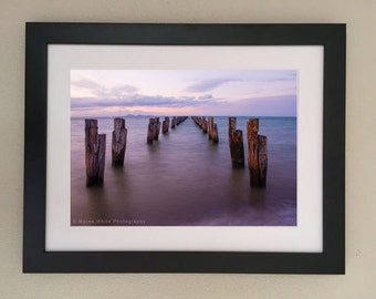 Into the deep, Landscape photography, Home decor, Fine Art print, Ready to frame, Ocean, Pier, Sunset