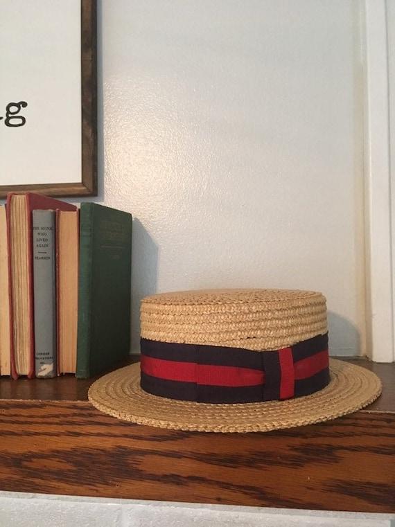 Campaign Straw Porkie Hat - July 4th Red White Blu