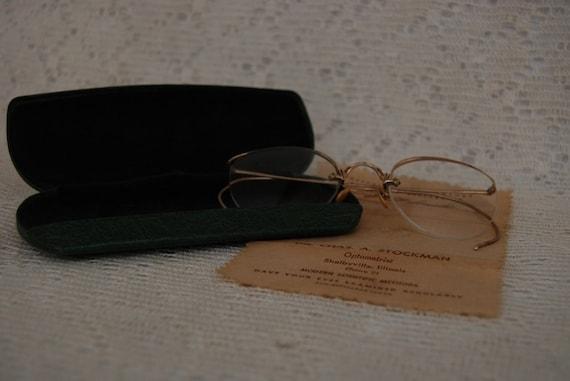 62863b63f5f 1930 s Eyeglasses Wire Rim Eye Glasses Vintage Case