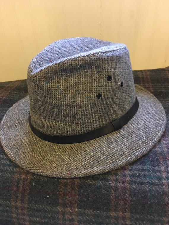 Tweed Wool Hat  Pendleton Wool Hat  Trilby  Fedora  Derby  1f72cfaeb246