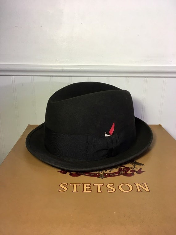 b9373e06f7b Stetson Fedora Hat Guy League 7 1 8 Wool Felt Royal