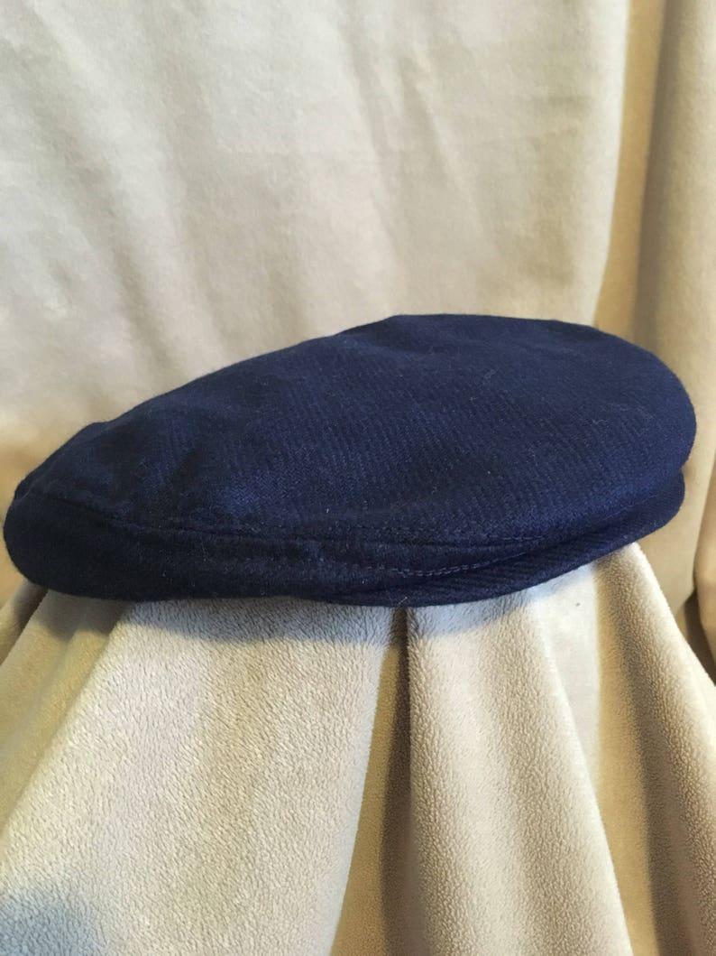 9544509a648dac British Flat Hat Navy Wool Artist Cap Golf Hat Cheese | Etsy