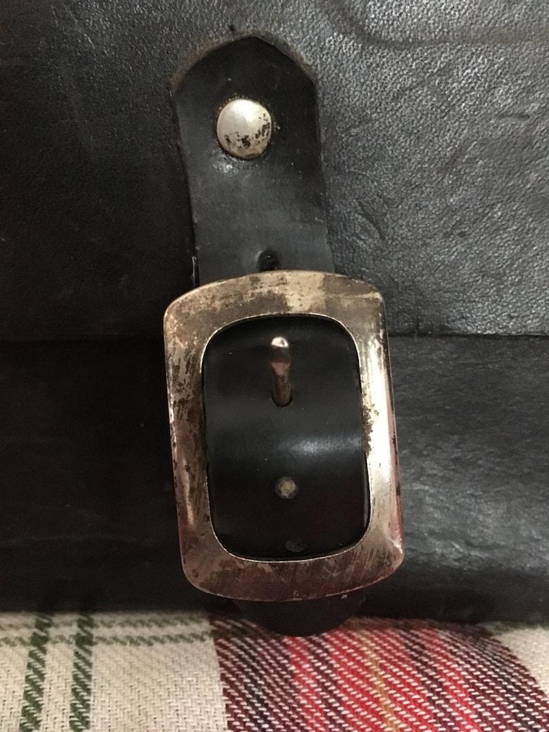 Black leather camera bag travel luggage