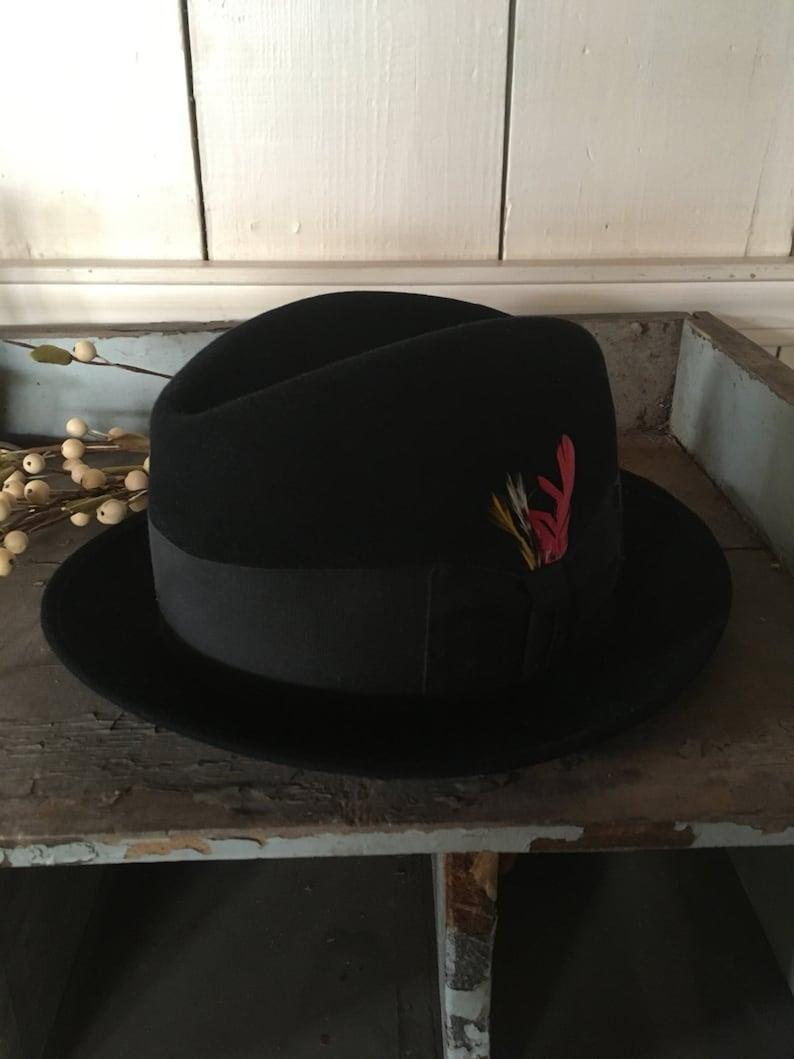 dd8878d6d42a6 Black Wool Hat  Malory Fifth Avenue  Trilby  Fedora  Derby