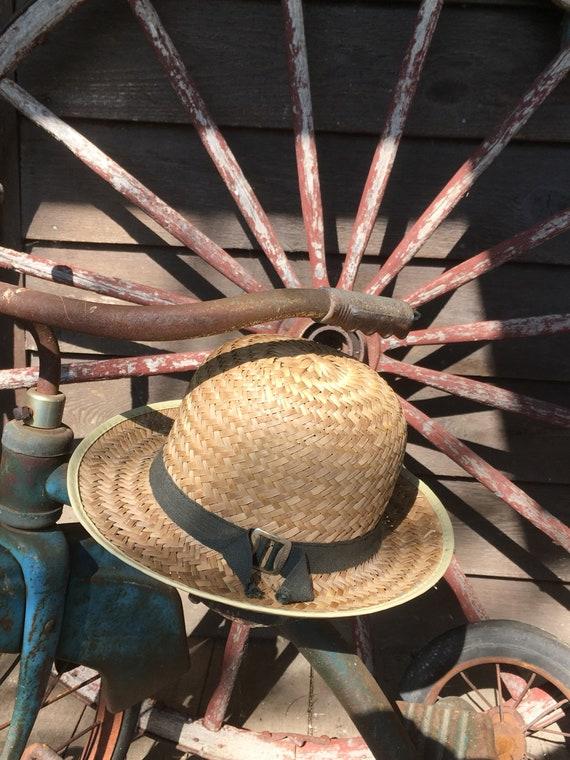 Mennonite Straw Hat Boys Summer Straw Brim Fedora Size  6c6225e1a71