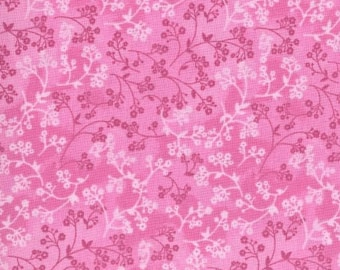 Printed Calico Pink on Pink  Floral 100/% Cotton £ PER MET 148 cm wd light wt