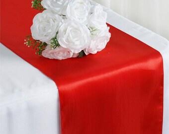 Red Table Runner | Etsy