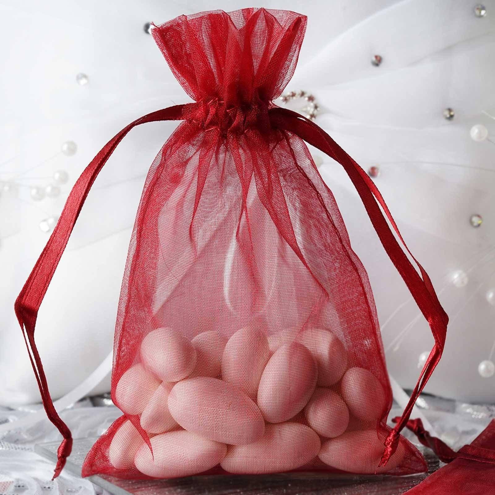 50 Burgundy 4X6 Organza Bags Sheer Favor Bags Wedding Favor   Etsy