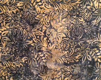 Dark green batik by the yard - Timeless Treasures Tonga Grove batik #17132
