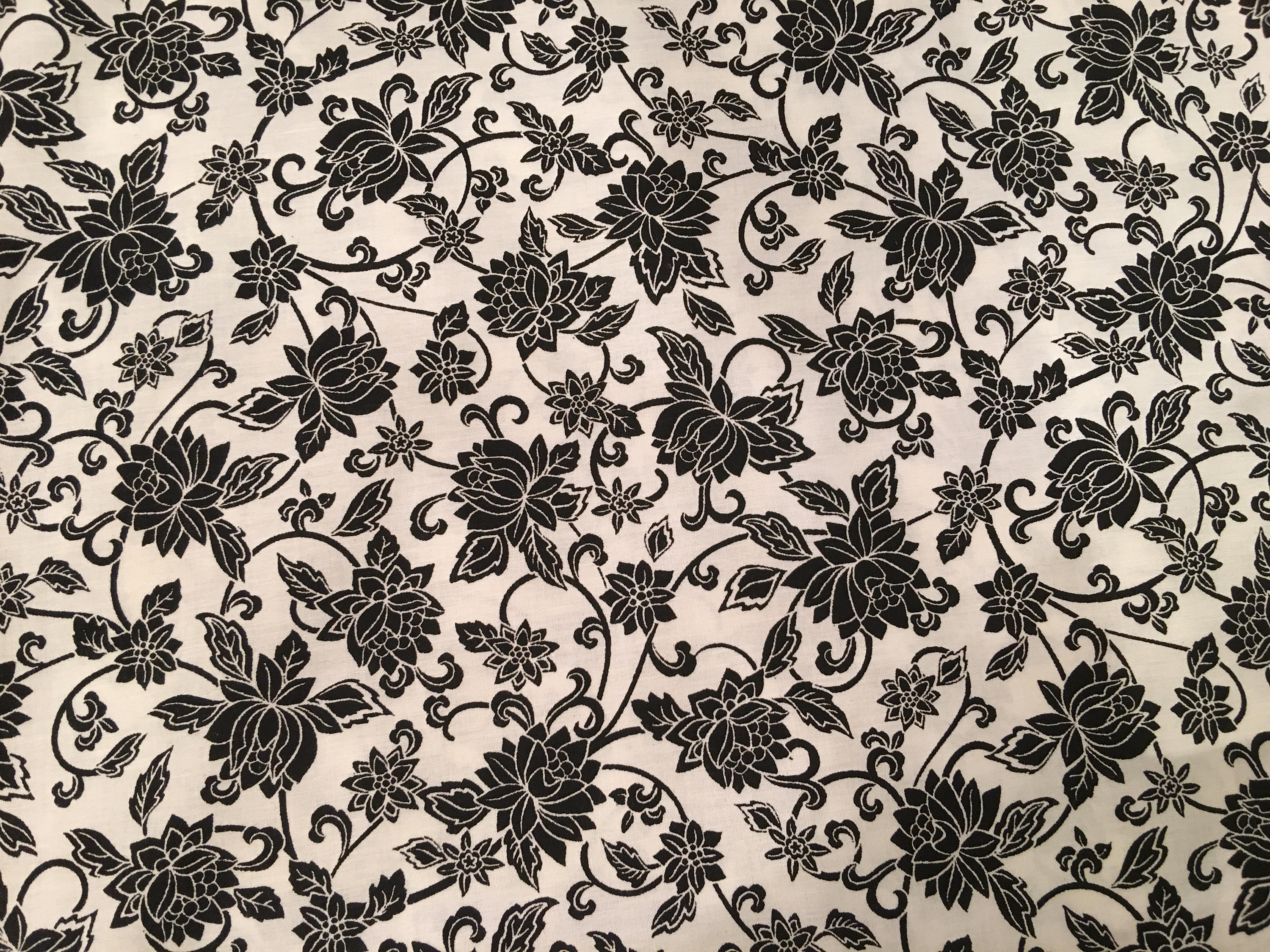 Black and white fabric by the yard black and white floral etsy zoom mightylinksfo