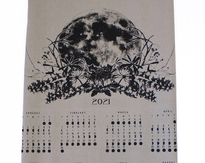 2021 moon calendar - Fabric color Taupe
