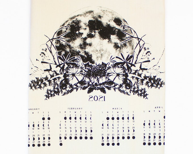 2021 moon calendar / Fabric color Cream