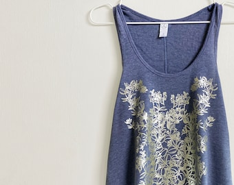 Brideweed Botanical top fashion tank / gift for her / womens clothing