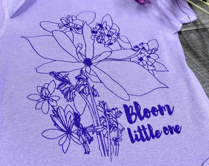 Bloom Little One handprinted Infant Baby Rib One Piece Onesie