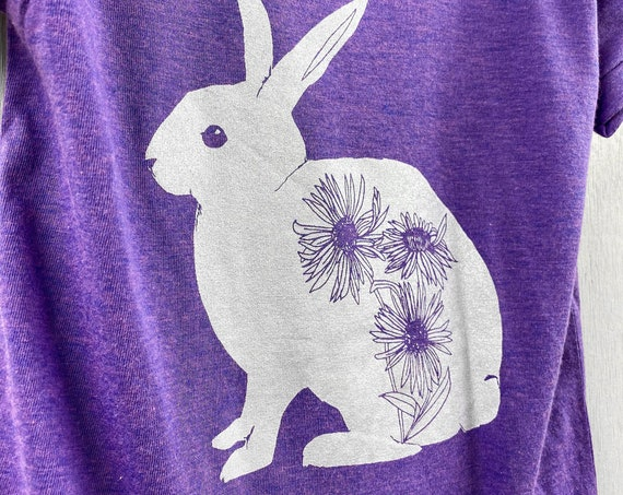 Purple Bunny graphic t shirt