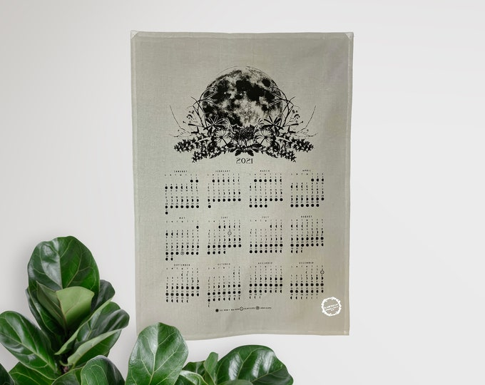 2021 moon calendar - Fabric color Gray