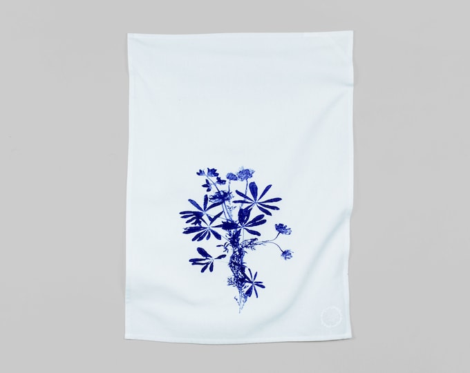 WILDFLOWERS BOUQUET hand printed kitchen towel