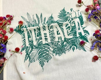 ITHACA hand printed kitchen towel