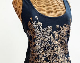 Valentina Botanical top fashion tank / gift for her / women's clothing Size XL