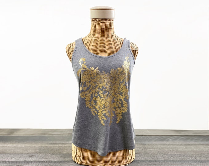 Valentina Botanical top fashion tank / gift for her / womens clothing