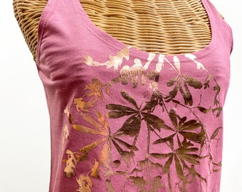 Botanical top fashion tank / gift for her / womens clothing