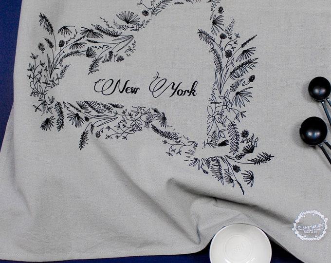 NEW YORK hand printed kitchen towel