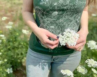 English garden bouquet graphic t shirt
