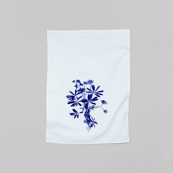 WILDFLOWERS BOUQUET hand printed kitchen towel