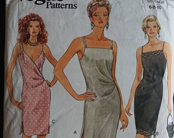 2064489315568 Flattering surplice dress and jacket 80s casual Vogue classic dress pattern  - size 6 8 10 - think silk like crepe, crepe back satin