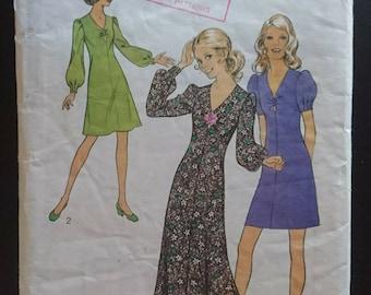Einfach Kleid Laura Ashley Glocke Flattern Bubble Sleeve Nähmuster 6 8 10 12 14